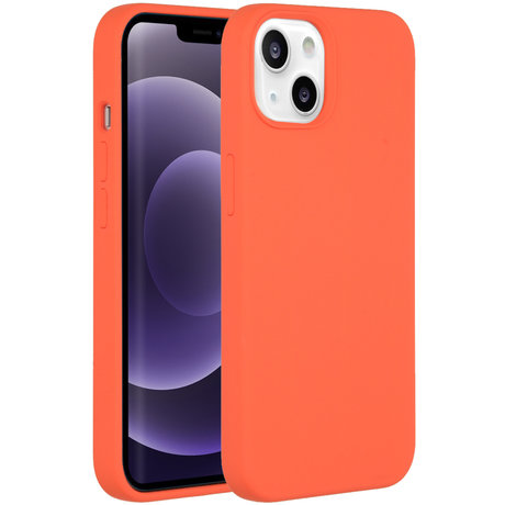 Accezz Liquid Silicone Backcover iPhone 13 - Nectarine (D)