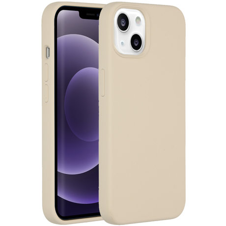 Accezz Liquid Silicone Backcover iPhone 13 - Stone (D)