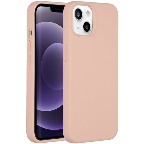 Accezz Liquid Silicone Backcover iPhone 13 - Roze (D)