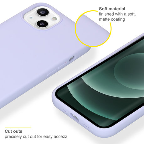 Accezz Liquid Silicone Backcover iPhone 13 Mini - Paars (D)