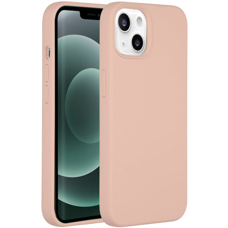 Accezz Liquid Silicone Backcover iPhone 13 Mini - Roze (D)