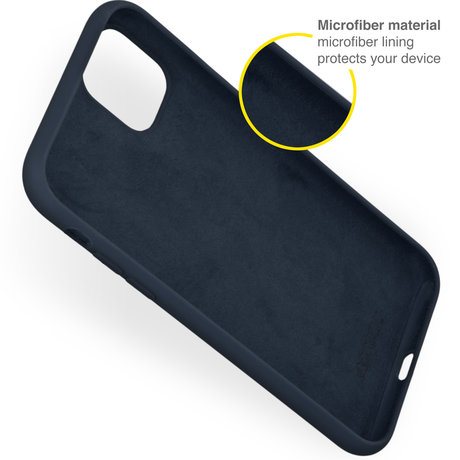 Accezz Liquid Silicone Backcover iPhone 13 Mini - Donkerblauw (D)