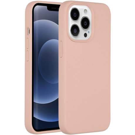 Accezz Liquid Silicone Backcover iPhone 13 Pro - Roze (D)