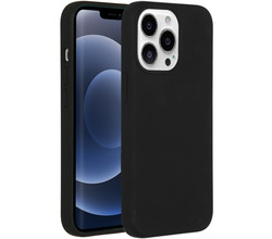 Accezz Accezz Liquid Silicone Backcover iPhone 13 Pro - Zwart (D)