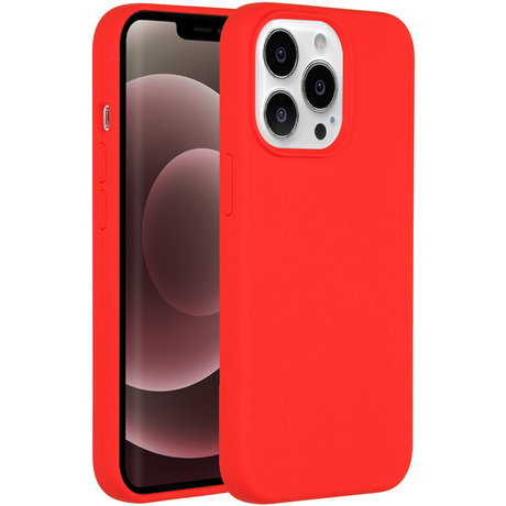 Accezz Liquid Silicone Backcover iPhone 13 Pro Max - Rood (D)