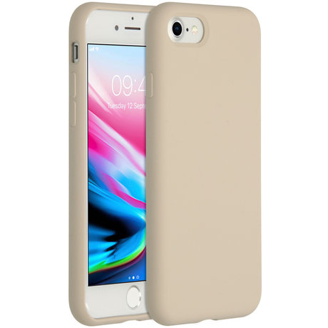 Accezz Liquid Silicone Backcover iPhone SE (2020) / 8 / 7 - Stone (D)