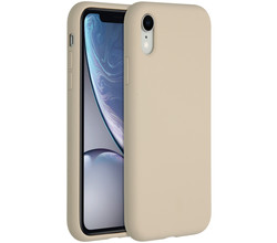 Accezz Accezz Liquid Silicone Backcover iPhone Xr - Stone (D)