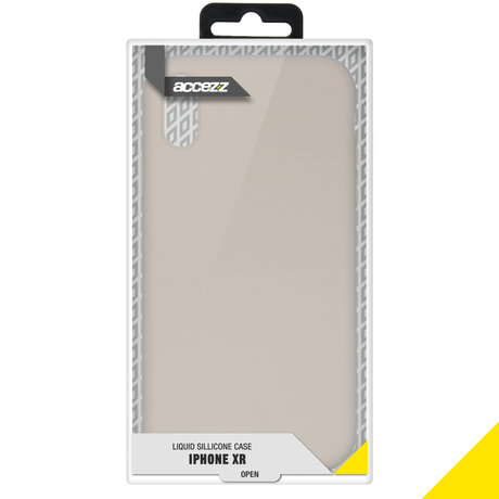 Accezz Liquid Silicone Backcover iPhone Xr - Stone (D)
