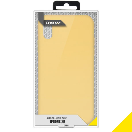 Accezz Liquid Silicone Backcover iPhone Xr - Yellow (D)