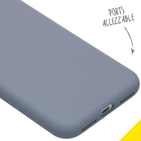 Accezz Liquid Silicone Backcover iPhone Xs / X - Lavender Gray (D)