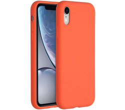 Accezz Accezz Liquid Silicone Backcover iPhone Xr - Nectarine (D)