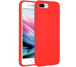 Accezz Accezz Liquid Silicone Backcover iPhone 8 Plus / 7 Plus - Rood (D)