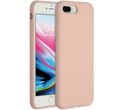 Accezz Accezz Liquid Silicone Backcover iPhone 8 Plus / 7 Plus - Pink Sand (D)