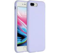 Accezz Accezz Liquid Silicone Backcover iPhone 8 Plus / 7 Plus - Lilac (D)
