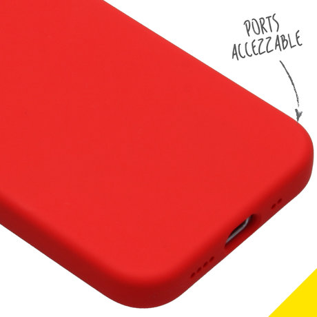 Accezz Liquid Silicone Backcover iPhone 12 Mini - Rood (D)