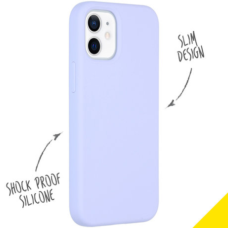 Accezz Liquid Silicone Backcover iPhone 12 Mini - Paars (D)