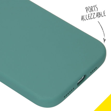 Accezz Liquid Silicone Backcover iPhone 12 Pro Max - Donkergroen (D)
