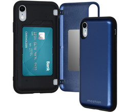 iMoshion iMoshion Backcover met pashouder iPhone Xr - Donkerblauw (D)