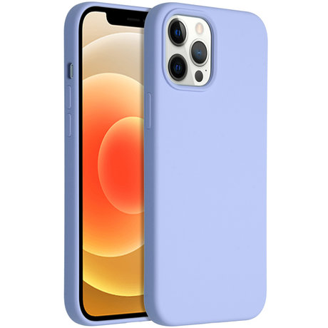 Accezz Liquid Silicone Backcover iPhone 12 Pro Max - Paars (D)