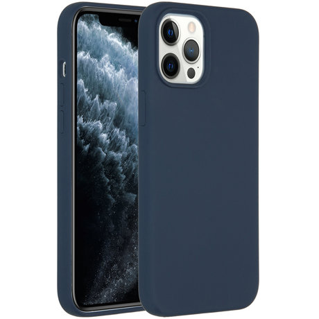 Accezz Liquid Silicone Backcover iPhone 12 Pro Max - Donkerblauw (D)