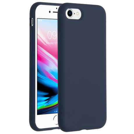 Accezz Liquid Silicone Backcover iPhone SE (2020) / 8 / 7 - Blauw (D)