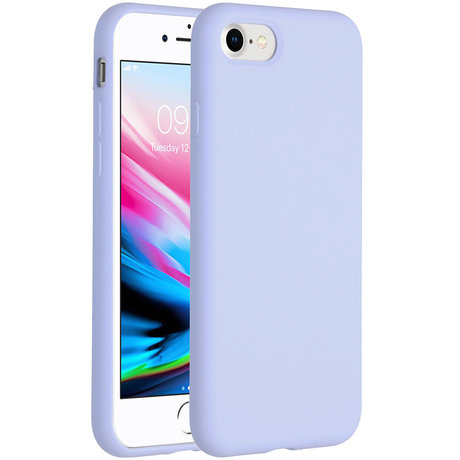 Accezz Liquid Silicone Backcover iPhone SE (2020) / 8 / 7 - Paars (D)
