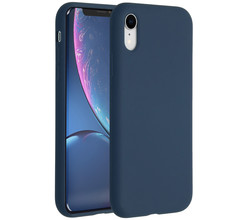 Accezz Accezz Liquid Silicone Backcover iPhone Xr - Blauw (D)