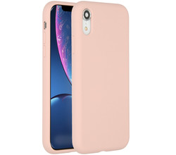 Accezz Accezz Liquid Silicone Backcover iPhone Xr - Roze (D)