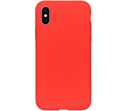 Accezz Accezz Liquid Silicone Backcover iPhone Xs / X - Rood (D)
