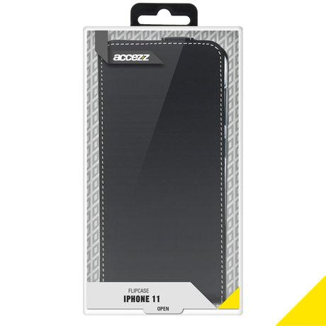 Accezz Flipcase iPhone 11 - Zwart (D)