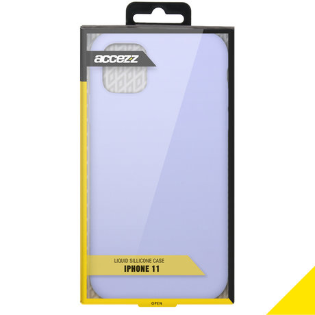 Accezz Liquid Silicone Backcover iPhone 11 - Paars (D)
