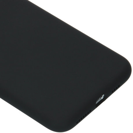 Accezz Liquid Silicone Backcover iPhone 11 Pro Max - Zwart (D)