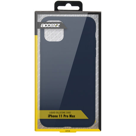 Accezz Liquid Silicone Backcover iPhone 11 Pro Max - Blauw (D)