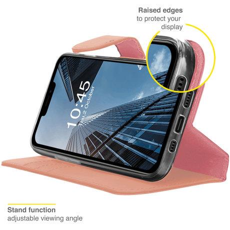 Accezz Wallet Softcase Booktype iPhone 13 Pro - Rosé Goud (D)