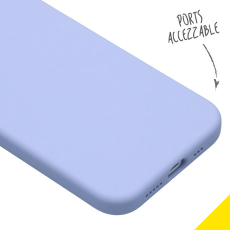 Accezz Liquid Silicone Backcover iPhone 12 (Pro) - Paars (D)