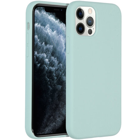 Accezz Liquid Silicone Backcover iPhone 12 (Pro) - Sky Blue (D)