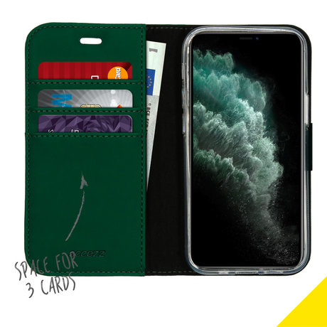 Accezz Wallet Softcase Booktype iPhone 12 Mini - Groen (D)