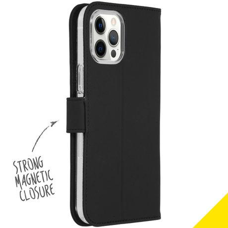 Accezz Wallet Softcase Booktype iPhone 12 Pro Max - Zwart (D)