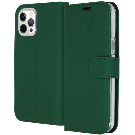 Accezz Wallet Softcase Booktype iPhone 12 Pro Max - Groen (D)