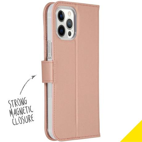Accezz Wallet Softcase Booktype iPhone 12 Pro Max - Rosé Goud (D)