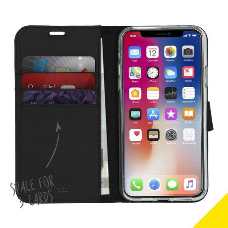 Accezz Wallet Softcase Booktype iPhone 11 Pro Max - Zwart (D)