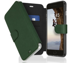 Accezz Accezz Xtreme Wallet Booktype iPhone 8 Plus / 7 Plus - Donkergroen (D)