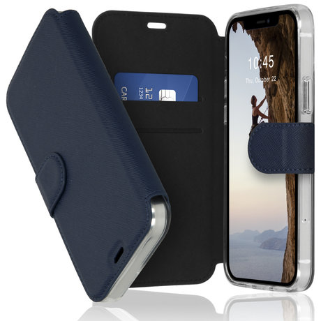 Accezz Xtreme Wallet Booktype iPhone 12 (Pro) - Donkerblauw (D)