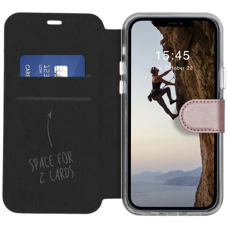 Accezz Xtreme Wallet Booktype iPhone 12 (Pro) - Rosé Goud (D)