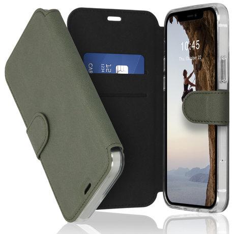 Accezz Xtreme Wallet Booktype iPhone 12 (Pro) - Lichtgroen (D)