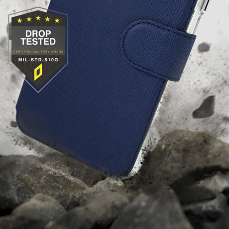 Accezz Xtreme Wallet Booktype iPhone 12 Mini - Donkerblauw (D)