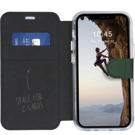 Accezz Xtreme Wallet Booktype iPhone 12 Mini - Donkergroen (D)