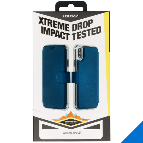 Accezz Xtreme Wallet Booktype iPhone 11 - Blauw (D)
