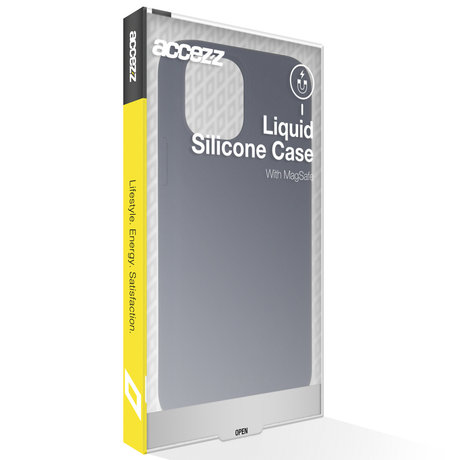 Accezz Liquid Silicone Backcover met MagSafe iPhone 12 (Pro) (D)