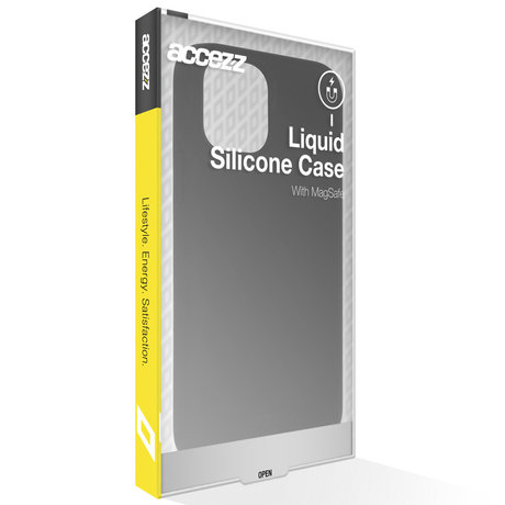 Accezz Liquid Silicone Backcover met MagSafe iPhone 13 - Zwart (D)